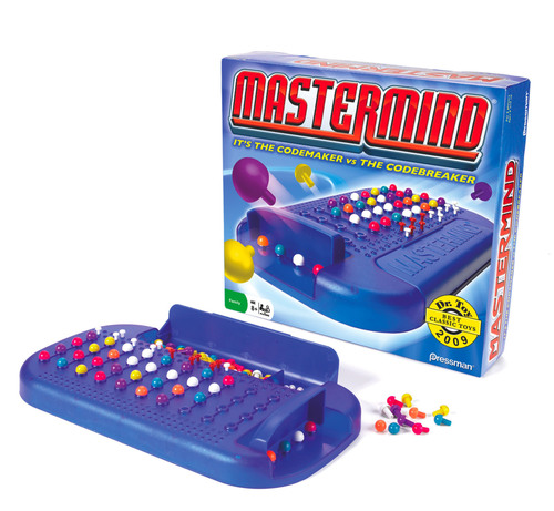 Pressman Toy dusts off classic game MASTERMIND to teach 21st century students that learning can be fun. MASTERMIND is a two-player game that puts the Codemaker against the Codebreaker. This thought-provoking game fosters development of important skills, including logic, reasoning, deduction, patience and visual perception.  (PRNewsFoto/Pressman Toy Corporation)
