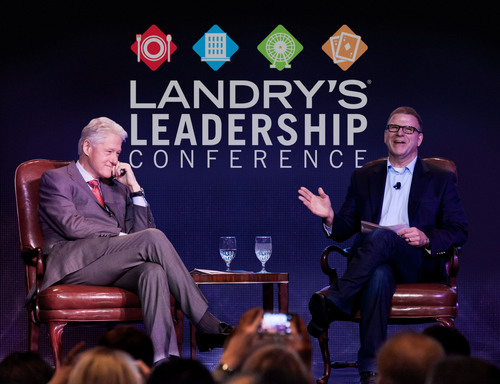 President Bill Clinton Delivers The Keynote Address At Landry's, Inc. Annual Leadership Conference. ...