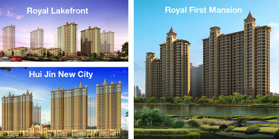 Developed by Golden New City Group, a major real estate group in Zhangjiagang, Hui Jin New City, Royal First Mansion and Royal Lakefront will feature 85 Otis elevators.