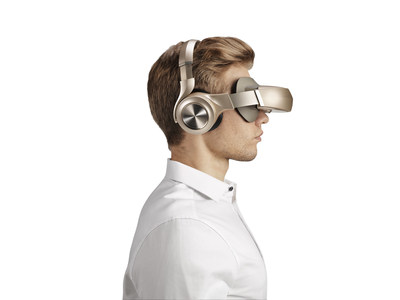 """Combining unique proprietary optical and system technologies that recreate a giant, scalable 800"""" curved screen with realistic 3D effects and high-fidelity noise-cancelling headphones, Moon provides the viewer with a truly immersive, amazingly realistic entertainment experience."""
