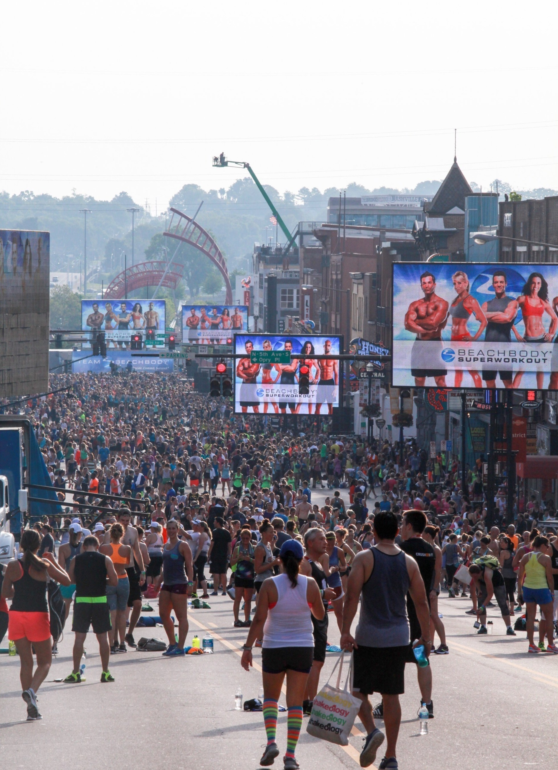 More than 20,000 people participated in Beachbody's Super Workout held in the streets of Nashville and streamed live at BeachbodyOnDemand.com