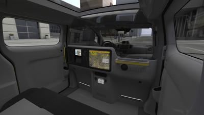 Interior of Nissan NV200 Taxi.  (PRNewsFoto/Nissan Americas)