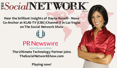 Hear Dana Roselli, morning News Co-Anchor at KLAS-TV (CBS) Channel 8 in Las Vegas.  (PRNewsFoto/Social Network Intermedia)