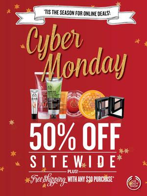 The Body Shop Cyber Monday.  (PRNewsFoto/The Body Shop USA)