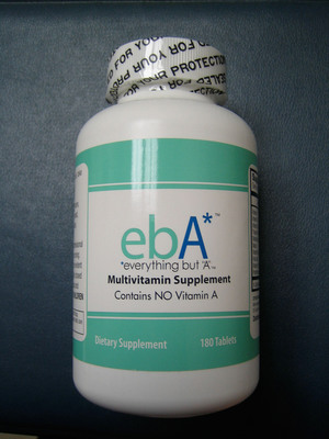 ebA Multivitamin Supplement.  (PRNewsFoto/Saratoga Therapeutics, LLC)