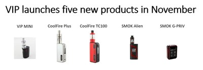VIP launches five new products in November