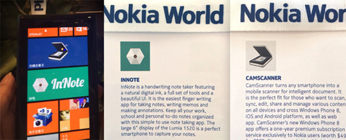 CamScanner and InNote are being demoed at Nokia World.  (PRNewsFoto/INTSIG)