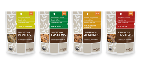 Superfood Seeds and Nuts are 4 varieties of nutrient-dense snacks from Navitas Naturals that are ideal for ...
