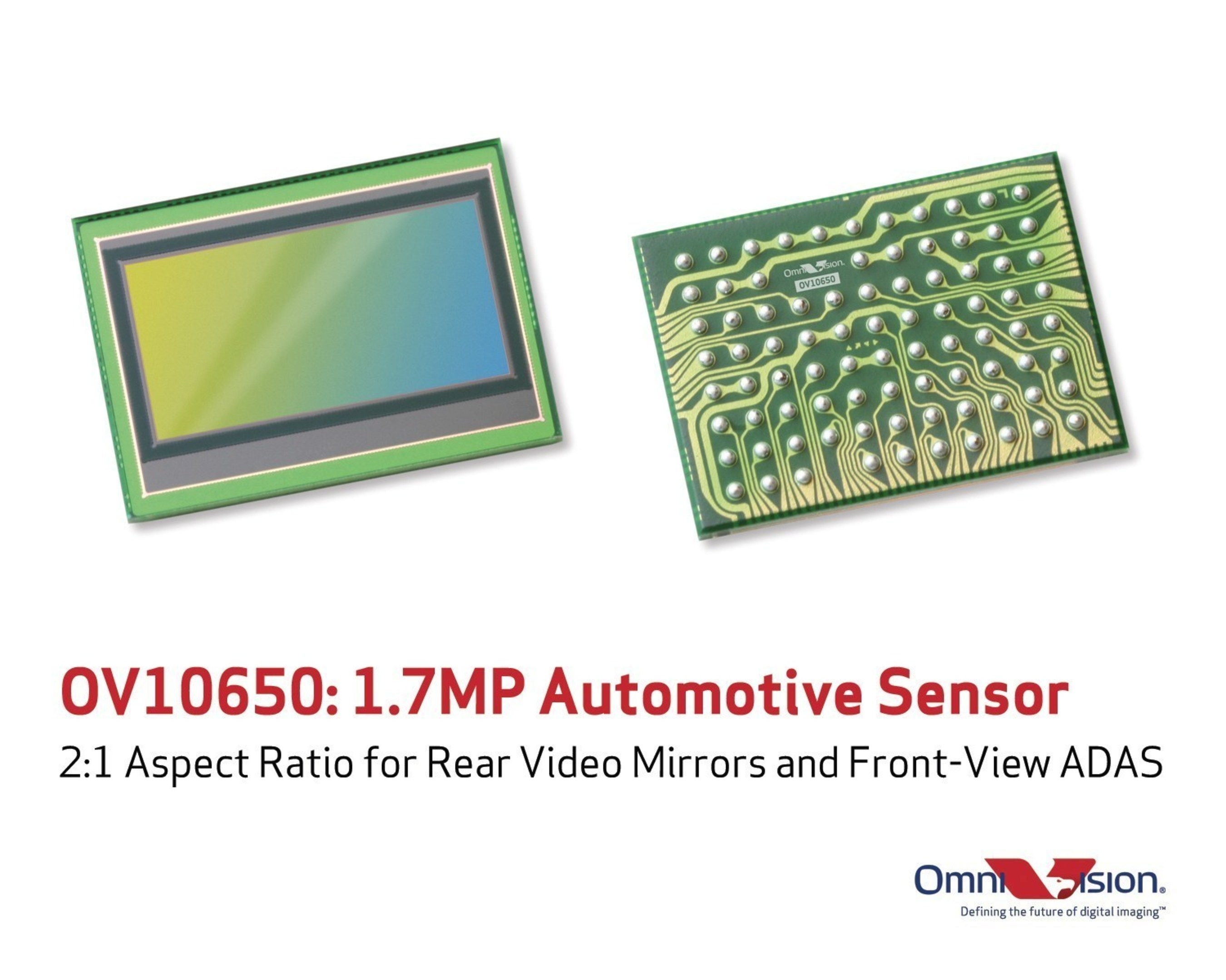 OmniVision's OV10650 is a new wide-format image sensor that captures high quality color images and video in a 2:1 aspect ratio.