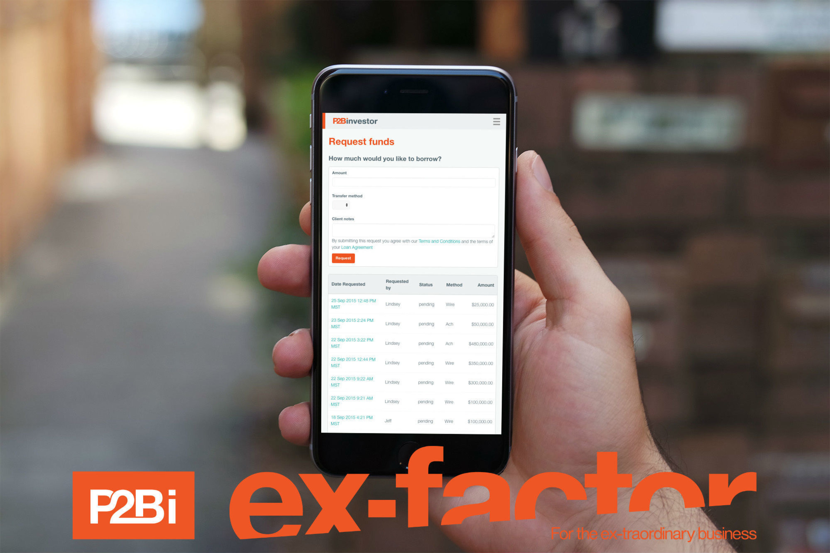 Marketplace Lender P2Binvestor Launches 'Ex-Factor,' A New Asset-Based Line of Credit
