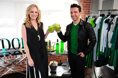 "MIDORI(R) NAMES ""FASHION POLICE"" CO-HOST GEORGE KOTSIOPOULOS AS FIRST-EVER ""HAPPY HOUR"" STYLE AMBASSADOR, TEAMS WITH CANDICE ACCOLA OF ""THE VAMPIRE DIARIES"" ON AD CAMPAIGN.  (PRNewsFoto/Midori(R) Melon Liqueur)"