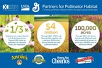 General Mills, NRCS and the Xerces Society Announce Multi-Year, $4 Million Investment in Pollinator Habitat