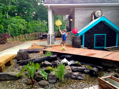 Reid Phillips, age 4, chases butterflies in the Hershey Play Garden at Ames Family Hospice House. Hospice of the Western Reserve built the garden at its west side hospice care center to provide comfort to children visiting family members.