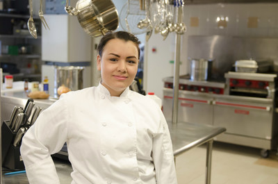 Texas Woman's University culinology student Michelle Tribble placed 3rd during the Spring 2015 season of the popular television chef competition Hell's Kitchen, which airs on the Fox network.  Photo by Michael Modecki.