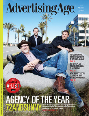 Advertising Age Names 72andSunny as 2013 Agency of the Year.  (PRNewsFoto/Advertising Age)