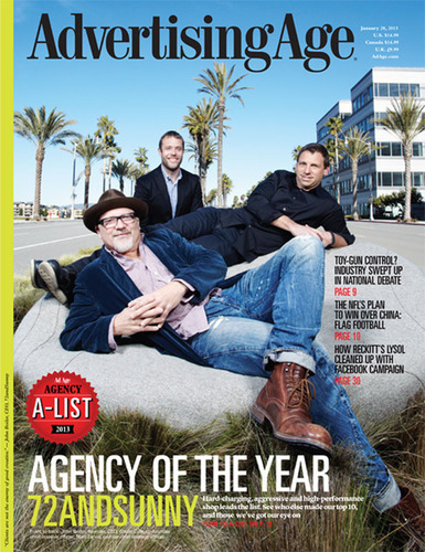 72andSunny Takes Agency of the Year in Advertising Age Agency A-List