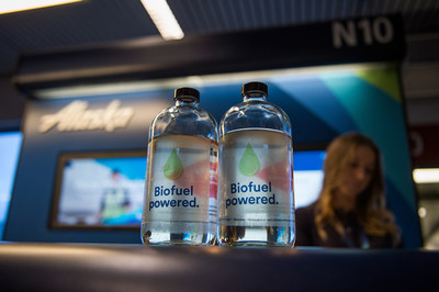 The biofuel powering Alaska Airlines flight 4 is made from excess forest residuals collected from sustainably managed forests owned by Weyerhaeuser, the Muckleshoot Indian Tribe and the Confederated Salish Kootenai Tribes. The flight departed Sea-Tac Airport in Washington on Nov. 14, 2016.