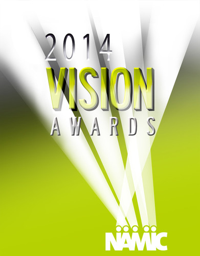 Official logo of the 20th Anniversary NAMIC Vision Awards celebrating achievements in television programming ...