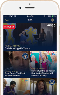 The #0to60 App features tips & resources designed to accelerate your journey to living healthy.