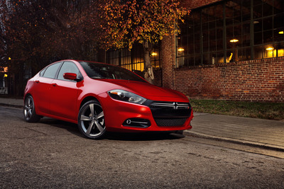 2013 Dodge Dart, second time in less than 12 weeks the 2013 Dodge Dart was named an IIHS Top Safety Pick.  (PRNewsFoto/Chrysler Group LLC)