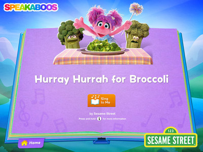 "Speakaboos, the award-winning digital storybook library designed to spark kids' love of reading, is adding ten popular Sesame Street titles including ""Hurray Hurrah for Broccoli"" featuring Abby Cadabby."