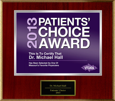 Dr. Michael Hall of Kansas City, MO Named a Patients' Choice Award Winner for 2013.  (PRNewsFoto/American Registry)