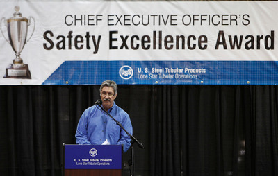 U. S. Steel CEO Mario Longhi Awards CEO Safety Excellence Award to Lone Star Tubular Operations.   (PRNewsFoto/United States Steel Corporation)