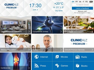 New Premium Entertainment Software by ClinicAll for Android and iOS (PRNewsFoto/ClinicAll)
