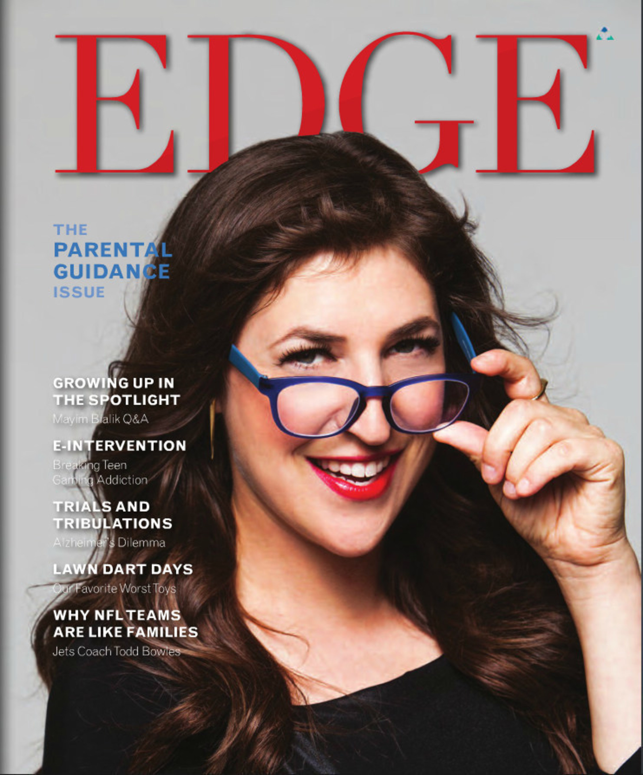 Big Bang Theory Star Mayim Bialik Graces Cover of EDGE Magazine's 2015 'Parental Guidance' Issue