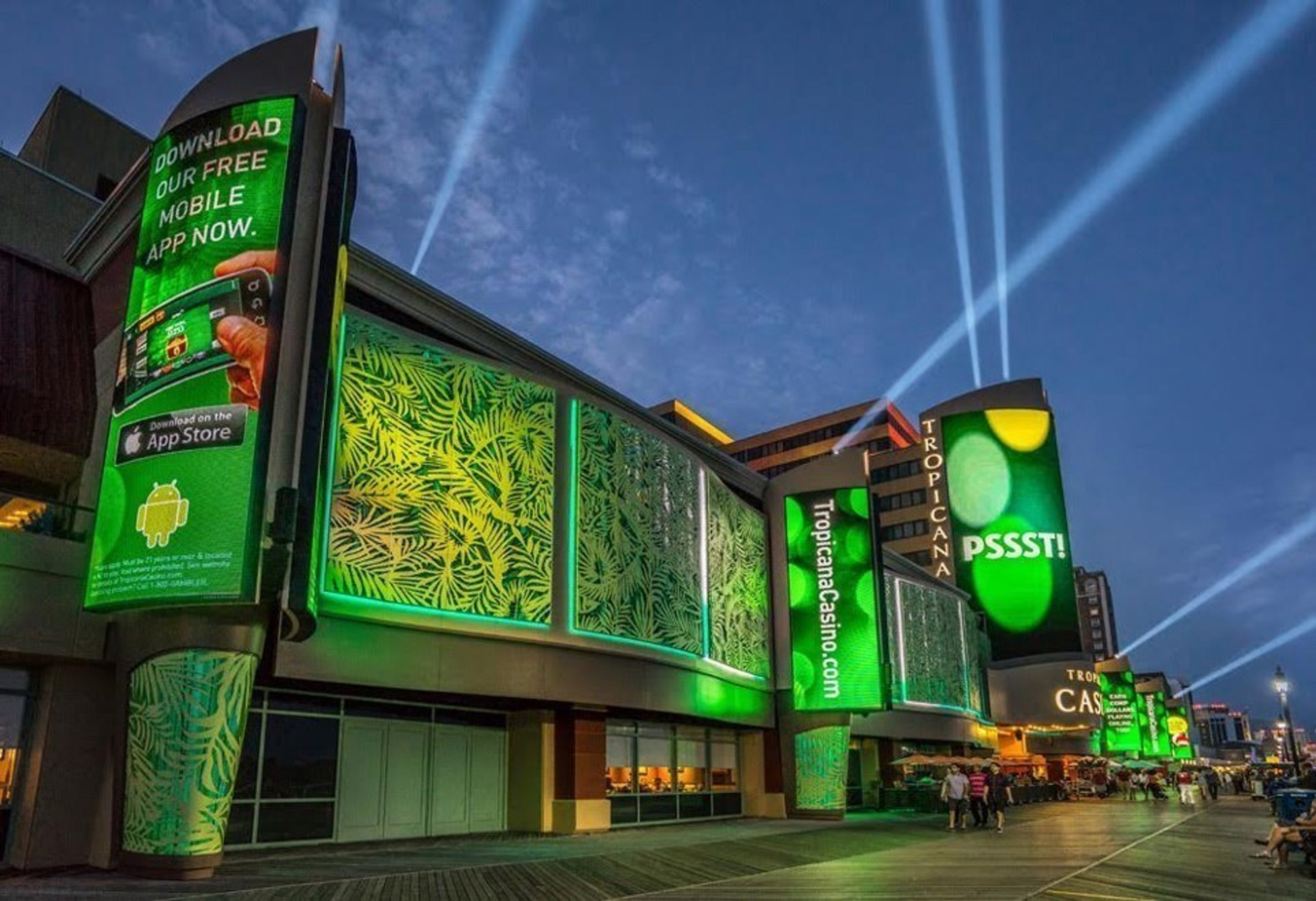YESCO's display system and Tropicana AC become the main attraction on the Boardwalk