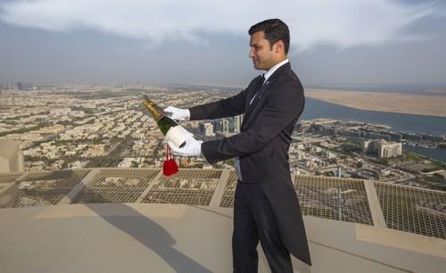 A St. Regis Champagne Ritual, 255 Metres (837 feet) Above Sea-level (PRNewsFoto/The St Regis Abu Dhabi) ...