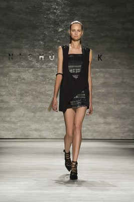 Pilot Pen showcases Nicolas K dress at GBK Fashion Week Celebrity Lounge (PRNewsFoto/GBK)