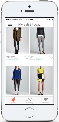 "Shop It To Me for iPhone, ""My Sales Today"" screenshot. (PRNewsFoto/Shop It To Me) (PRNewsFoto/SHOP IT TO ME)"