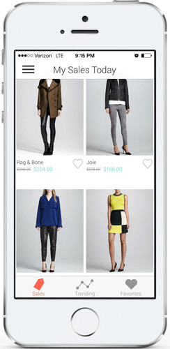 "Shop It To Me for iPhone, ""My Sales Today"" screenshot.  (PRNewsFoto/Shop It To Me)"