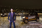 Get it DASHED | DASHED delivers for over 650 top-rated restaurants across 5 states with a nimble fleet of electric & eco-friendly SmartCars. (PRNewsFoto/DASHED)