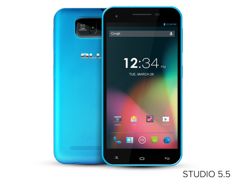 BLU Products introduces largest member of Studio Series with new Studio 5.5 Phablet Device,