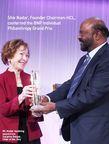 Shiv Nadar recibe el 2013 BNP Paribas Grand Prix for Individual Philanthropy