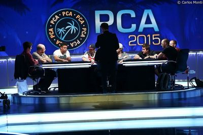 PCA TV table with Ronaldo - PokerStars Caribbean Adventure