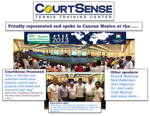 CourtSense presented at ITF Worldwide Coaches Conference in Cancun, Mexico. (PRNewsFoto/Sports Split Step) (PRNewsFoto/SPORTS SPLIT STEP)