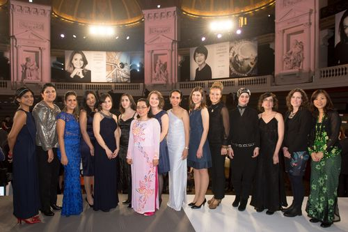 "L'Oreal-UNESCO For Women In Science Awards 2015 - International Rising Talents - copyright Stephane Cardinal âeuro"" From left to right : Dr Bhama Ramkhelawon / Dr Nourtan Abdeltawab / Dr Carolina Horta Andrade / Dr Vanessa D'Costa / Dr Ariela Vergara-Jaque / Dr Aurore Avergues-Weber / Dr Phuong Ha-Lien Tran / Dr Kathryn Holt / Dr Matilde Jimenez Coello / Dr Mary Caswell Stoddard / Dr Adriana Marais / Dr Saana Sharafeddine / Dr Eva Pellicer / Dr Signe Normand / Dr Yoke-Fun Chan (PRNewsFoto/La Fondation L'Oreal)"