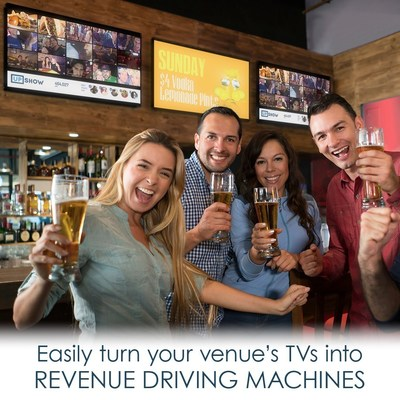 UPshow's Promo & Social Displays drive marketing programs through a business's televisions.