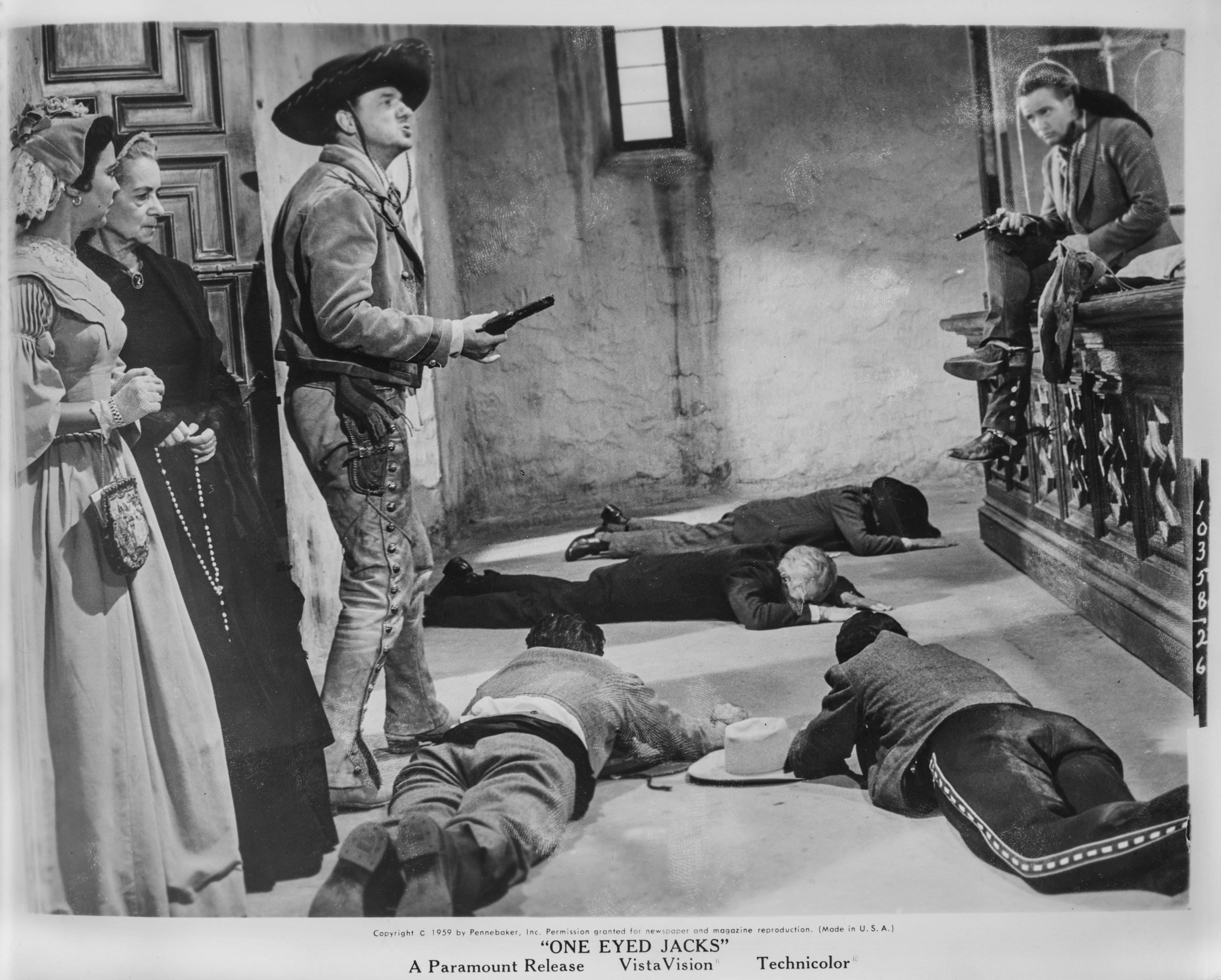 Karl Malden and Marlon Brando stand-off in One-Eyed Jacks.