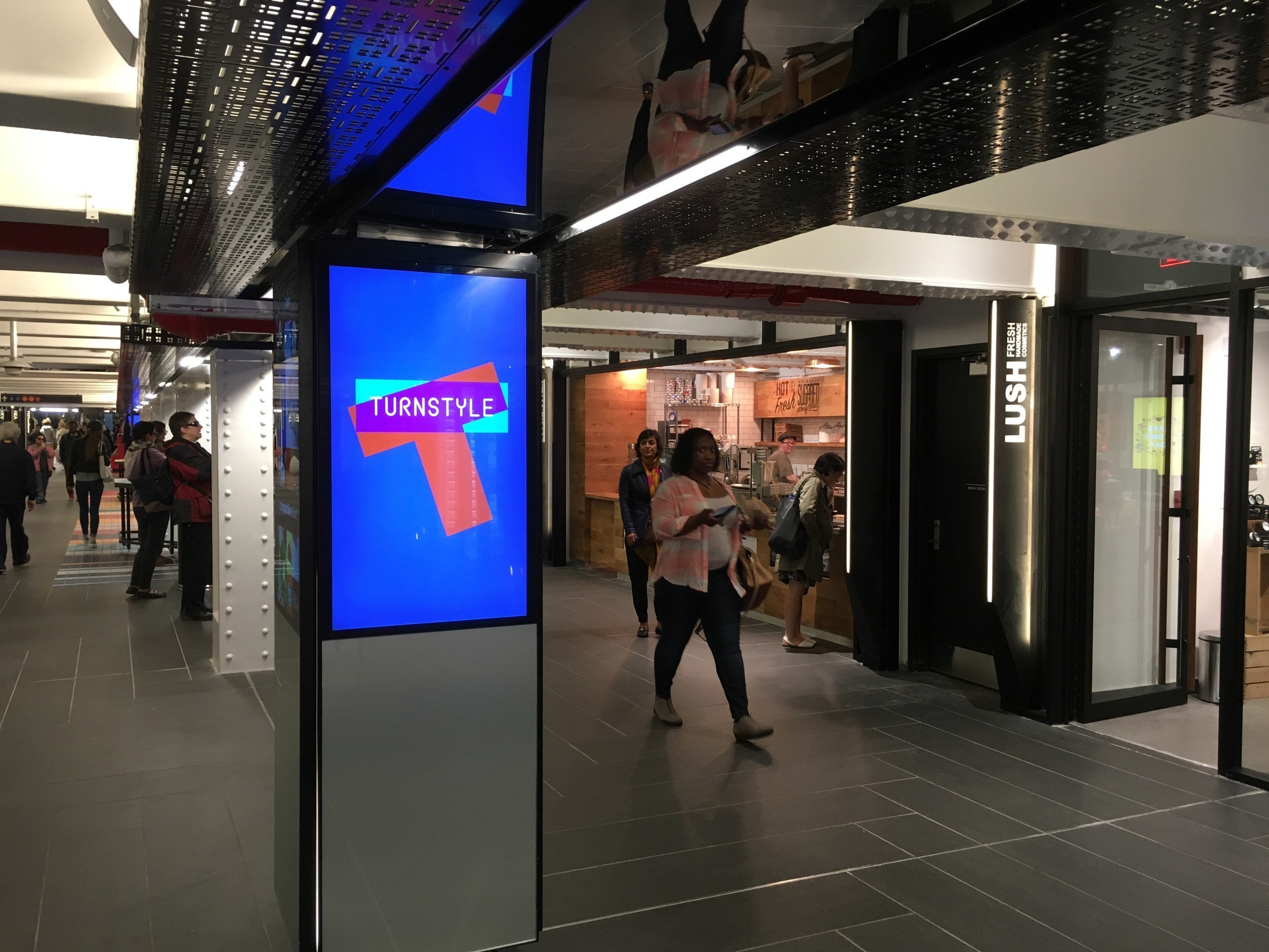 TurnStyle, a first of its kind underground marketplace inside the Columbus Circle 59th Street subway station, is now open, featuring 39 lively retail and food vendors. #TurnStyleNYC @TurnStyleNYC