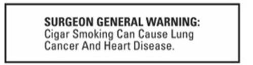 Surgeon General Warning (PRNewsFoto/Montecristo Social Club)