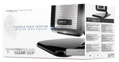Turtle Beach's HyperSound Clear 500P directional audio system for the home helps people hear the TV better.