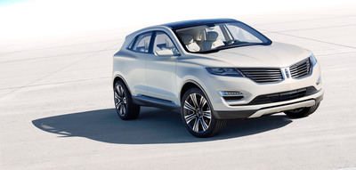 The Lincoln MKC Concept, introduced at the 2013 North American International Auto Show, is a vision of how Lincoln will enter the industry's fastest-growing segment: small luxury utility vehicle.  (PRNewsFoto/Ford Motor Company)