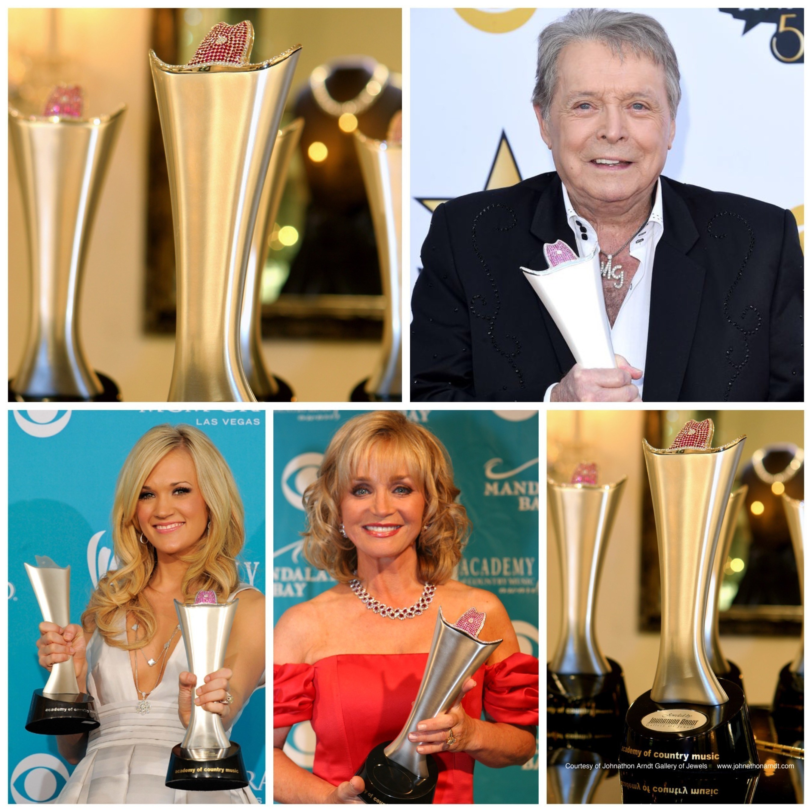 ACM Presents: Superstar Duets' Airing May 15, 2015 on CBS Featuring The Academy of Country Music Triple Crown Award, Jeweled and Designed by Johnathon Arndt presented to