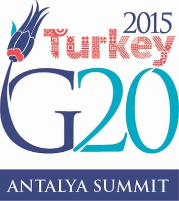 """""""In the Antalya Action Plan..., you can find updated growth strategies, implementation schedules and accountability report, for the first time ... G20 is not a club of the rich. Understanding the situation of the low income developing countries, we agreed to restructure G20's agenda on development to support the 2030 AGENDA FOR SUSTAINABLE DEVELOPMENT. For the first time, we included reducing food loss and waste, which is a global problem, as well as the issue of increasing access to energy particularly in Africa, during the first ever G20 Energy Ministers Meeting."""" President Erdogan speaking at the Press Conference following the G20 Summit (PRNewsFoto/G20 Turkish Presidency) (PRNewsFoto/G20 Turkish Presidency)"""