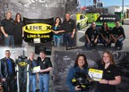 LINE-X Race to the Finish Sweepstakes winners pose with their prizes: race hood from No.5 LINE-X Chevrolet race car, Alex Bowman's race suit and helmet and a trip to the 2015 Daytona 500.