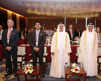 Sheikh Nahyan bin Mubarak Al Nahyan, Minister of Culture and Knowledge Development inaugurated the First International Conference of VPS-Penn Medicine, along with Dr. Shamsheer Vayalil, Prof Tayeb Kamali and Mr.Charles Stanford in Abu Dhabi today. (PRNewsFoto/VPS Healthcare)
